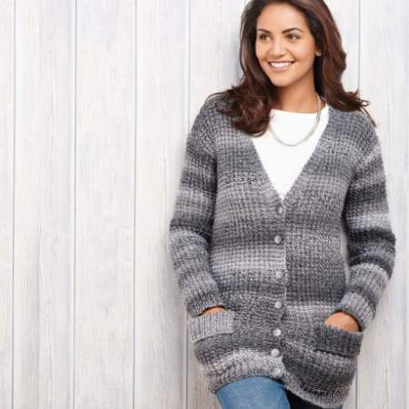 Essential Chunky Cardigan Knitting Pattern