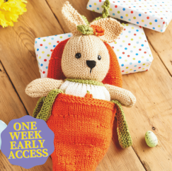 Early Access: Rabbit and Carrot Bed Knitting Pattern
