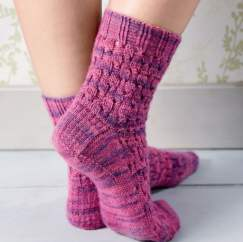 BONUS BRITISH PATTERN: Eyelet Rib Socks Knitting Pattern
