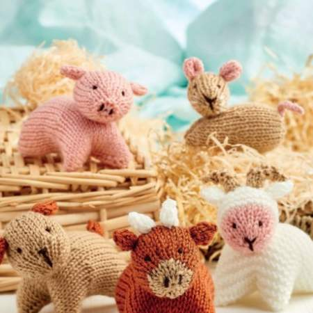 Farmyard Toy Set Knitting Pattern