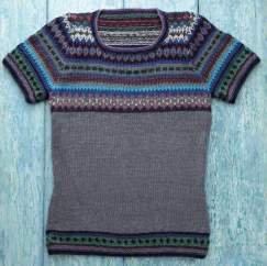 Fair Isle Yoke Top Knitting Pattern