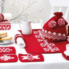 Simple Festive Table Set Knitting Pattern