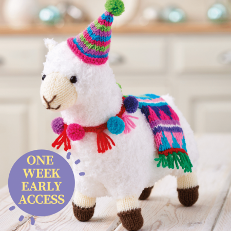 Early Access For Members! Festive Llama Knitting Pattern