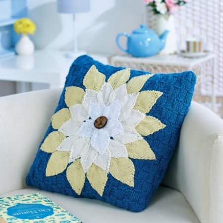 Floral Cushion | Knitting Patterns | Let's Knit Magazine