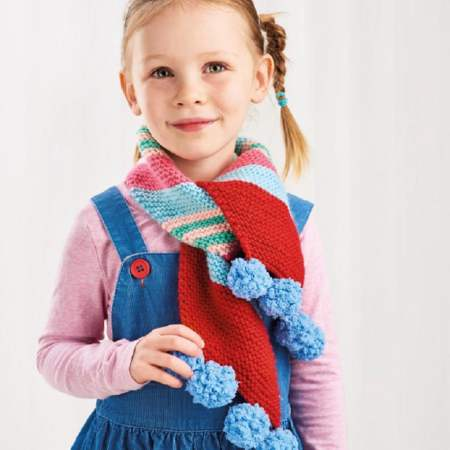 Girl's Christmas Scarf Knitting Pattern