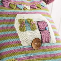 Cute caravan cushion Knitting Pattern