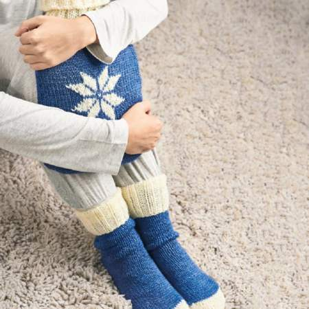 Hot Water Bottle Cover and Socks Set Knitting Pattern