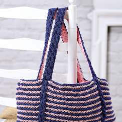How To Knit a Cable Bag