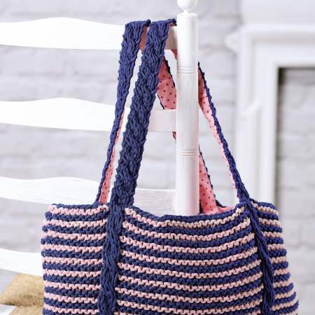 How To Knit a Cable Bag Knitting Pattern