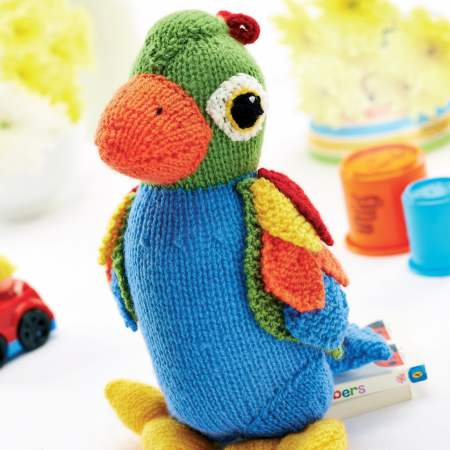 Jason the Parrot Knitting Pattern