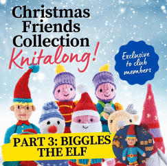 Christmas Friends Knitalong Part 3: Biggles the Elf Knitting Pattern