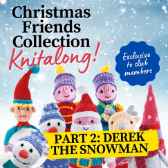 Christmas Friends Knitalong Part 2: Derek the Snowman Knitting Pattern