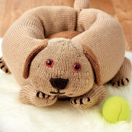 Knitted Dog Bed Knitting Pattern