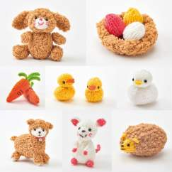 Easter Toys: Bonus Springtime Friends Patterns Knitting Pattern