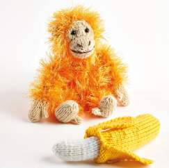 Bonus Patterns: Baby Orangutan & Banana Knitting Pattern