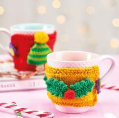 Christmas Mug Cosies Knitting Pattern