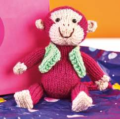 Monkey Toy Knitting Pattern