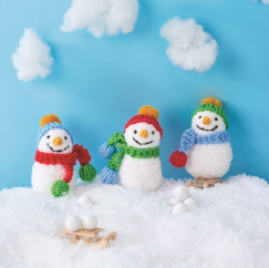Snowman Family Knitting Pattern