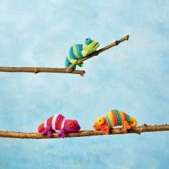 Mini Chameleons Knitting Pattern
