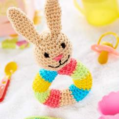 Crochet Bunny Rattle Knitting Pattern
