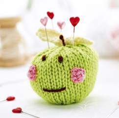 Apple pincushion Knitting Pattern