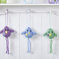 Hanging birdies Knitting Pattern