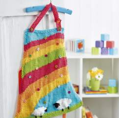 Rainbow Apron Knitting Pattern