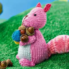 Squirrel Toy Knitting Pattern