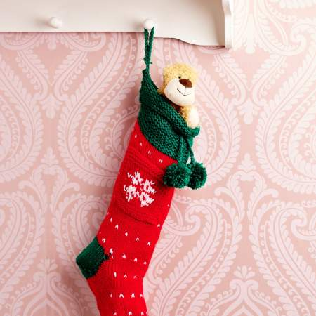Easy Christmas Stocking Knitting Pattern