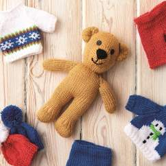 Teddy Bear Duo Knitting Pattern