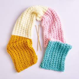 Emmaknitty Exclusive: Chunky Scarf Knitting Pattern