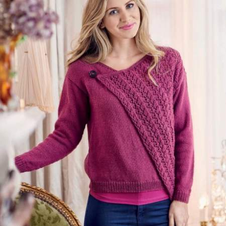 Stylish Asymmetric Cardi Knitting Pattern