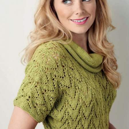 Ribbed Lace Top Knitting Pattern