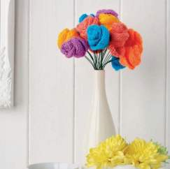 Simple Flower Bouquet Knitting Pattern