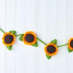 Sunflower Bunting Knitting Pattern