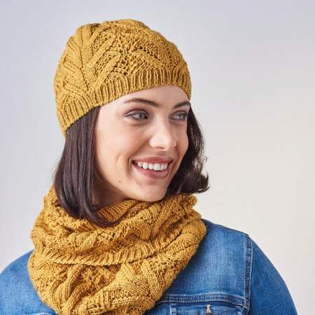 Lace Hat And Cowl Knitting Pattern