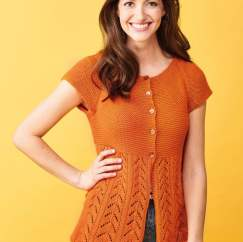 Simple Lace Short Sleeve Cardigan Knitting Pattern