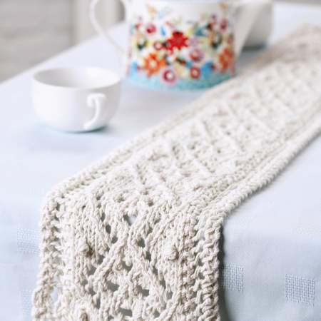 Lace Table Runner Knitting Pattern