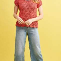 Leaf Lace Top Knitting Pattern
