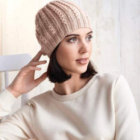 Learn To Knit A Mock Cable Hat Knitting Pattern