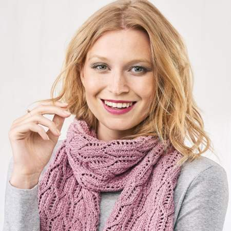 Learn to Knit A Lacy Scarf Knitting Pattern