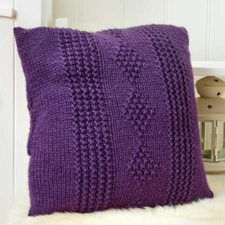 Learn to Knit A Ringlet Stitch Cushion Knitting Pattern