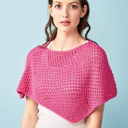 Learn To Knit A Lace Summer Poncho Knitting Pattern