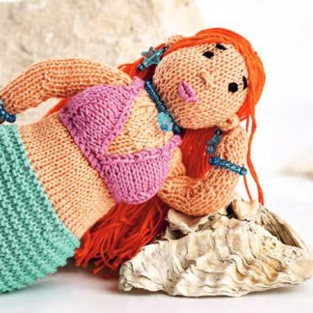 Knitted Mermaid Toy Knitting Pattern