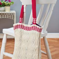 Mock Cable Eco Shopping Bag Knitting Pattern