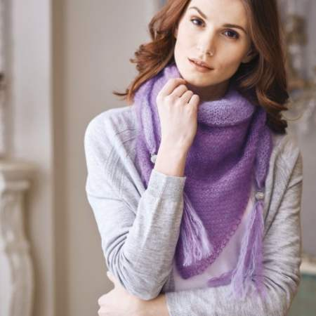 Simple mohair shawl | Knitting Patterns | Let's Knit Magazine