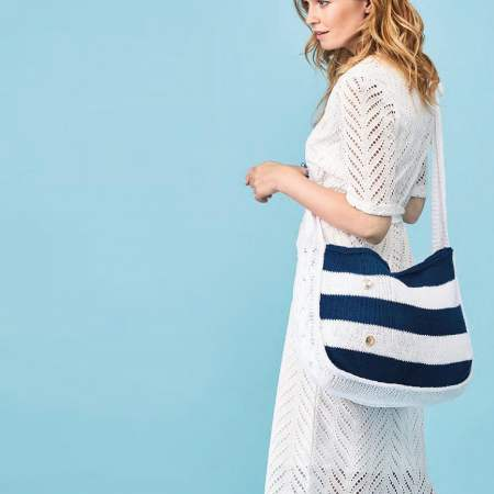 Nautical Cable Bag Knitting Pattern
