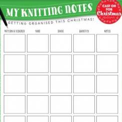 Cast On For Christmas: Knitting Notes