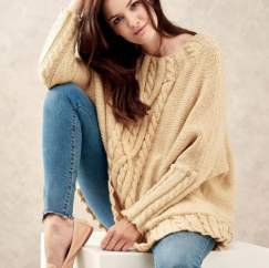 Oversized Cable Jumper Knitting Pattern