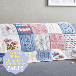 Debbie Bliss Primavera Blanket Knitalong Part 5 Knitting Pattern